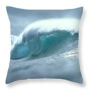 Wave And Spray Throw Pillow