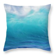 Wave And Windspray Throw Pillow by Vince Cavataio - Printscapes
