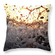 Wave Approaching Throw Pillow
