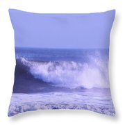 Wave At Jersey Shore Throw Pillow