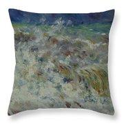 Wave At Sea Throw Pillow
