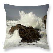Wave At Shore Acres 2 Throw Pillow