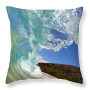 Wave Breaking Throw Pillow