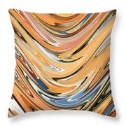 Wave  By Rafi Talby Throw Pillow