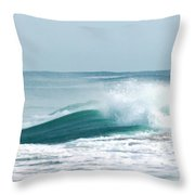 Wave Collision During Hurricane Irene Throw Pillow
