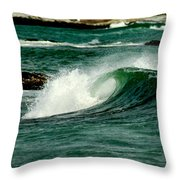 Wave Curl Throw Pillow