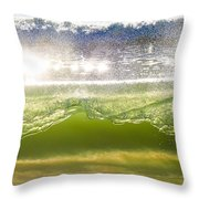 Wave Glass  Throw Pillow