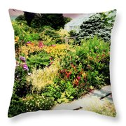Wave Hill Conservatory Throw Pillow