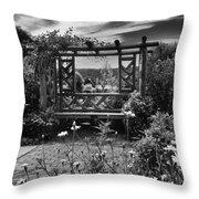 Wave Hill Garden Throw Pillow