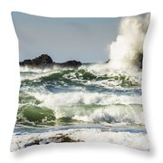 Wave Impact Throw Pillow