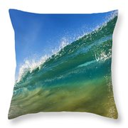 Wave - Makena Beach Throw Pillow