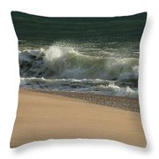 Wave Of Light - Jersey Shore Throw Pillow