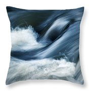 Wave Of The Veil On The River Throw Pillow