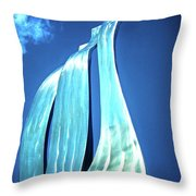 Wave Of Weiden Throw Pillow