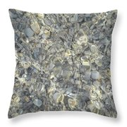 Wave Over Shells  Throw Pillow