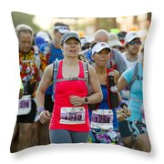 Wave Start At Pikes Peak Marathon And Ascent Throw Pillow
