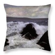 Wave Strike Point Lobos Throw Pillow