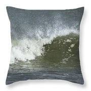 Wave Study Throw Pillow