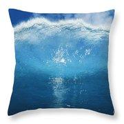 Wave Tube Throw Pillow