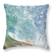 Wave Tube Along Shore Throw Pillow