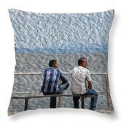 Wave Watchers Throw Pillow