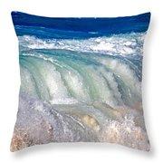 Wave Waterfall, Sunset Beach, Hawai'i Throw Pillow
