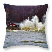 Waveform Throw Pillow