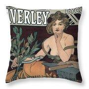 Waverley Cycles - Paris 1898 Throw Pillow