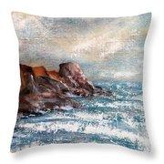 Waves 1 Throw Pillow