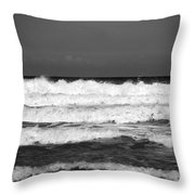 Waves 1 In Bw Throw Pillow