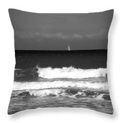 Waves 4 In Bw Throw Pillow