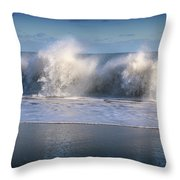 Waves Against The Wind Throw Pillow