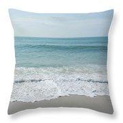 Waves And Assateague Beach Throw Pillow