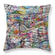 Waves And Particles Throw Pillow