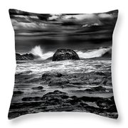 Waves At Dawn Throw Pillow