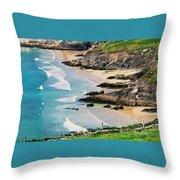 Waves Coming Ashore At Sybil Point Ireland  # 1 Throw Pillow