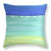 Waves Breaking At Sea Throw Pillow