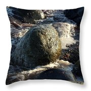 Waves Coming In Throw Pillow