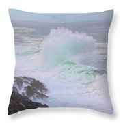 Waves Crashing Throw Pillow