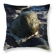 Waves Going Out Throw Pillow