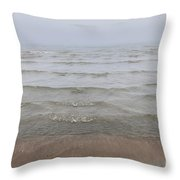 Waves In Fog Throw Pillow
