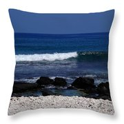 Waves In Paradise Throw Pillow