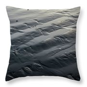 Waves In The Sand Throw Pillow