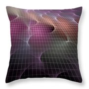 Waves Of A Rainbow Throw Pillow