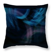 Waves Of Blue And Purple Throw Pillow