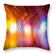 Waves Of Colour Throw Pillow