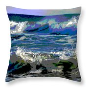 Waves Of Delight Throw Pillow