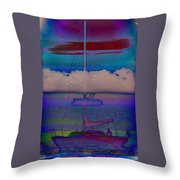 Waves Of Emotion Throw Pillow