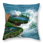 Waves Of La Jolla Throw Pillow