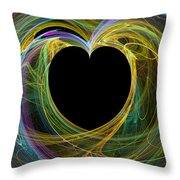 Waves Of Love - Romance Throw Pillow